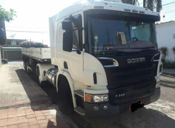 Scania P340 4 X 2 Carreta Fachinni 12,5 Mts Ano 2013