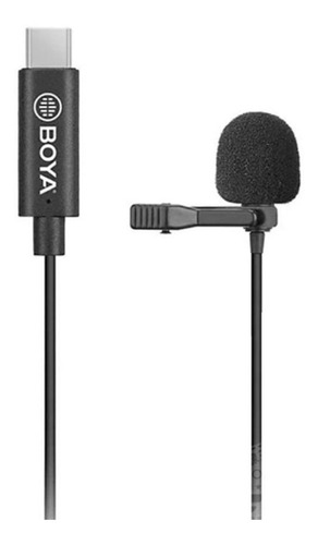 Microfone Lapela Usb-c Para Celular Android Boya By-m3