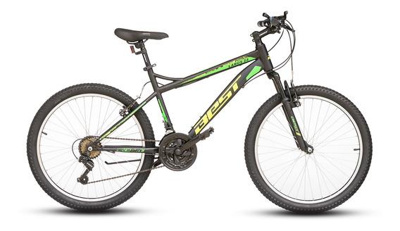 Bicicleta Best Larus Aro 24 Talla 17 Negro/verde