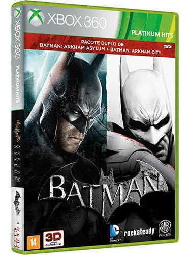 Game Batman  Arkham Asylum + Arkham City - Xbox 360