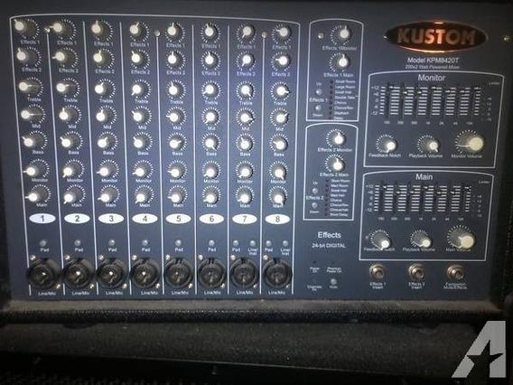 Mixer Amplificado Kustom Kpm 8420t