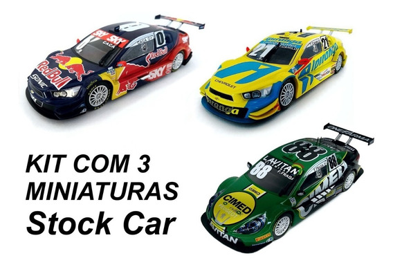 Stock Car Colecao 3 Miniaturas Escala 143 Conforme Fotos
