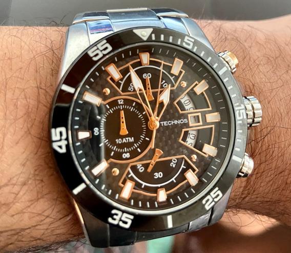 Relógio Masculino Technos Cronógrafo Semi-novo Os 10.eq