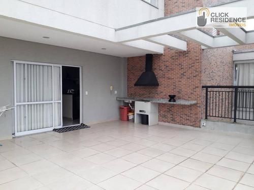 Imagem 1 de 26 de Cobertura 2 Dormitórios Com 1 Suíte ( Espaço Gourmet - 2 Vagas ) À Venda De 144,00 M² Por R$ 680.000 - B. Assunção - São Bernardo Do Campo/sp - Co0016