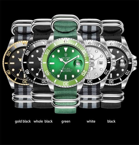 Tevise T801 Reloj De Pulsera Para Hombre, Correa De Nailon
