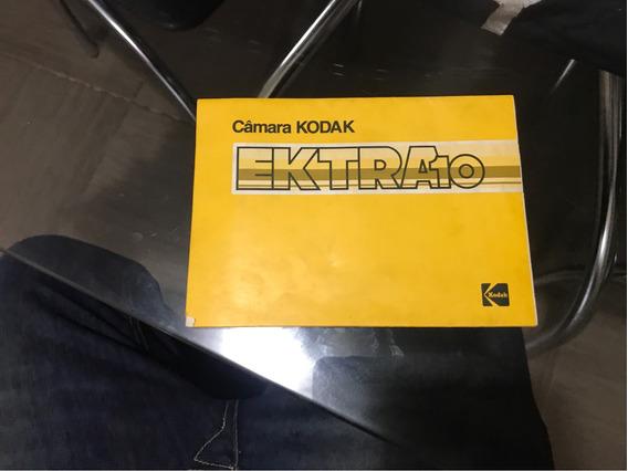 Manual E Garantia Câmera Kodak Ektra10 - Colecionadores