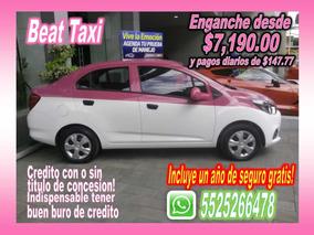 Chevrolet Beat Taxi Eng Desde $7,190.00 1 Año Seg Gratis!