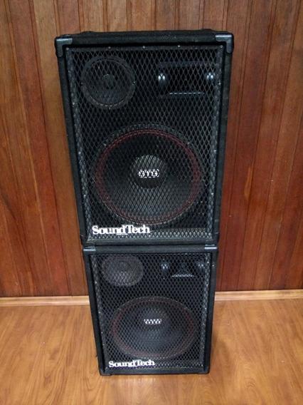 Caixas Passivas Soundtech + Potencia 1.000w