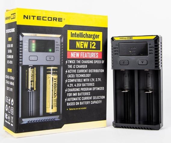 Carregador De Pilhas E Baterias Nitecore New I2 18650 Lítio
