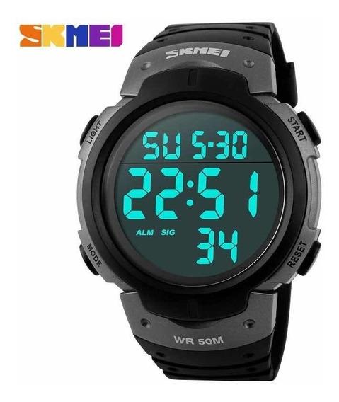 Relógio Skmei 1068 Esportivo Prata Original Promoção C/caixa