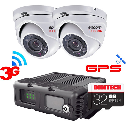 Kit Videovigilancia Movil 2 Cam Dvr Hd Epcom Xmr Gps 3g 64gb