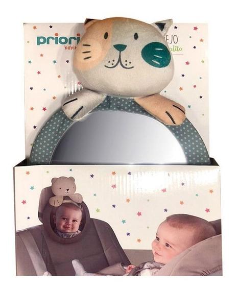 Espejo Retrovisor De Bebé Para Auto Con Peluche Priori