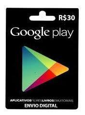 Cartão Google Play R$ 30 Reais Br