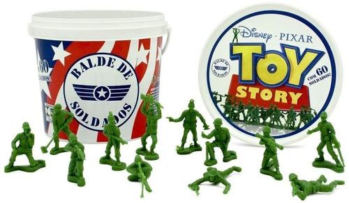 Imagem 1 de 6 de Balde 60 Soldados - Bonecos Toy Story - Disney Pixar Toyng