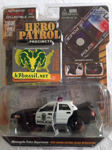 Bx409 Jada Hero Patrol Viatura Policia Ford Crown Victoria