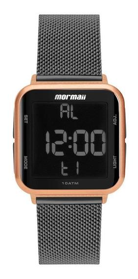 Relógio Unissex Mormaii Wave Mo6600al/7j 38mm Aço Grafite