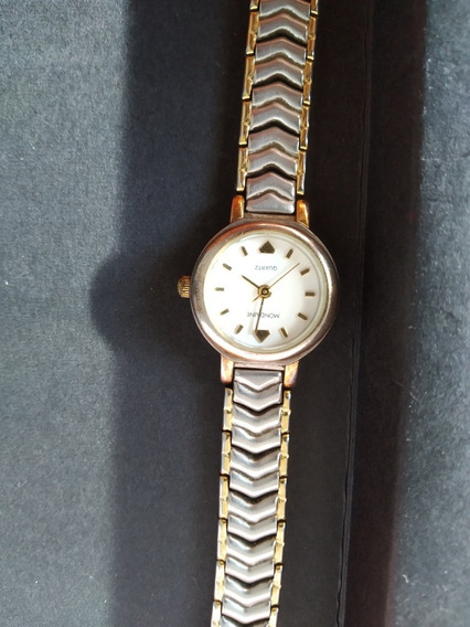Belo Relógio Mondaine - Dourado Com Prata - Ótimo Estado