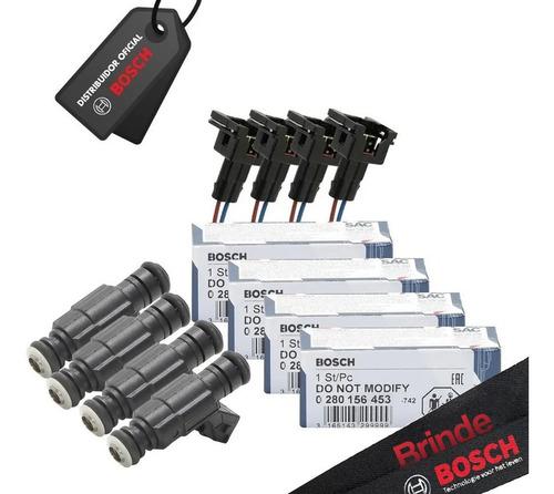 Jogo 4 Bicos Bosch 65lbs 0280.156.453 + 4 Conectores.