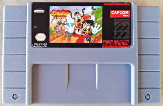 Jogo Goof Troop Super Nintendo Snes Cartucho Fita Game