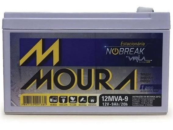 Bateria Moura Estacionária 12v 9ah Vrla Nobreak Alarme Cerca
