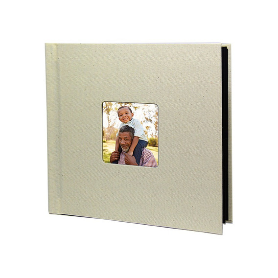 Photobook Kodak Album Auto Adesivo Janela 15x15 - Bege