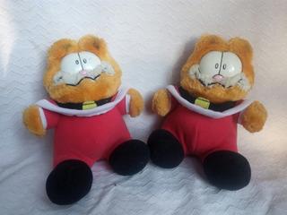 2 Peluches Garfield Navideños Vintage