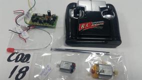 Placa Receptora + Controle + Motores P/ Carrinho Cod 18