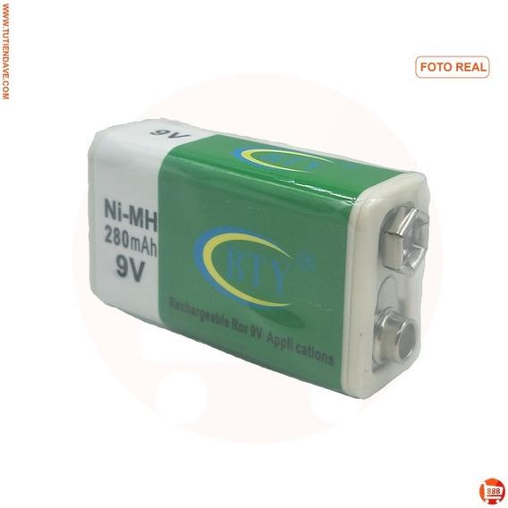 Pila Bateria Recargable 9v Cuadrada 280mah