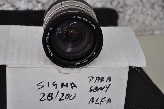 Objetiva Sigma 28/200 Para Sony Alfa