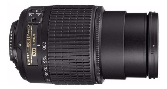 Lente Nikon Objetiva 55-200mm F/4-5.6 G Ed Af-s Dx