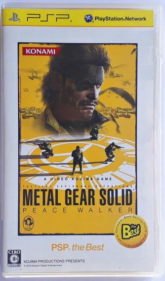 Jogo Metal Gear Solid Peace Walker Playstation Psp Mídia Fís