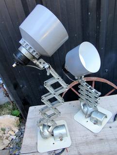 Antigua Lámpara Tijera Extensible Vintage Retro Industrial