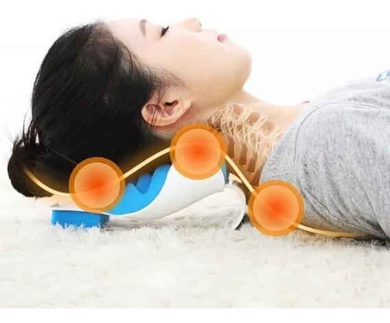 Travesseiro Ortopédico Cervical Massageador P/ Dores Pescoço