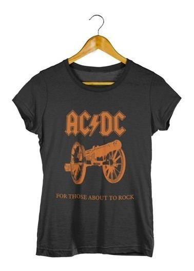 Camiseta Feminina Ac/dc
