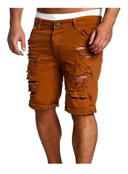 Jeans Cortos Hombres Denim Pantalones Para Playa