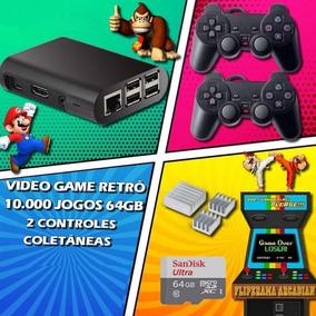 Game Retrô 10.000 Jogos + 64gb + 2 Controles Melhor Preço
