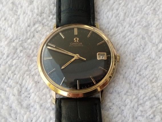 Reloj Omega Automatico Lamina De Oro Acero Original