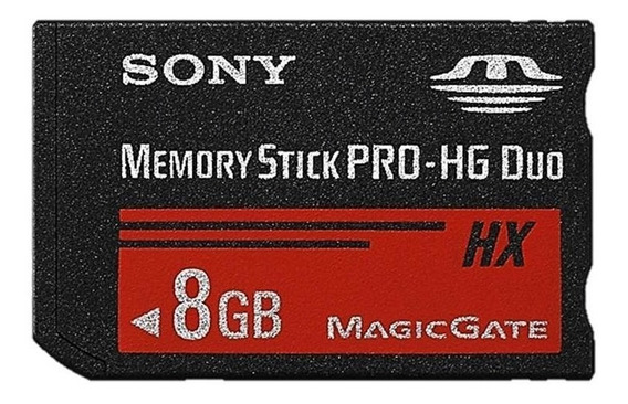 Cartão Memoria Sony 8gb Memory Stick Pro Hg Duo 100%original