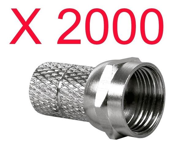Kit 2k Conector Rg59 Rosca Pacote Com 2.000 Peças