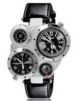 Oulm 9415 Unisex Dual-movimento Esportes Relógio Mecânico...