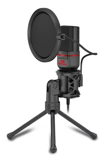 Microfone Estúdio Profissional Redragon Seyfert Gm100 - Kit