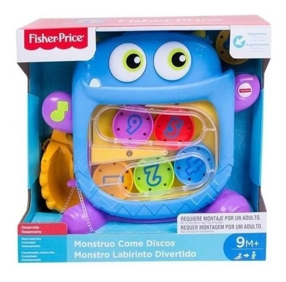 Monstruo Didactico Fisher Price Come Discos Original