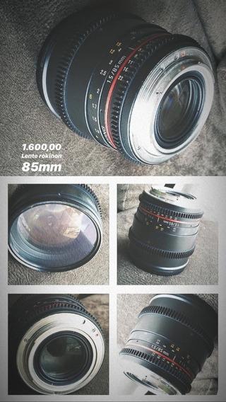 Lente 85mm Rokinon 1.5