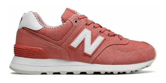 Tenis Mujer New Balance 574 Coral Talla 22.5 Deportivos Gym