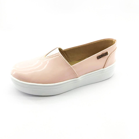 Tênis Flatform Quality Shoes Feminino 003 Verniz Rosa