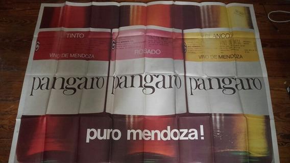 Afiche Pangaro Vino Tinto Coleccion Antiguo Publicidad