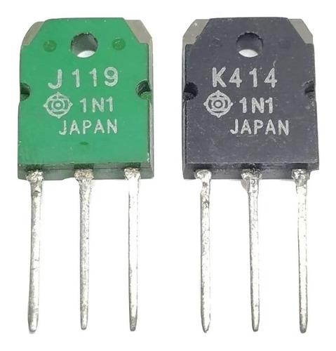 Par De Transistor 2sk414 K414 2sj119 J119 To-3p Nuevos