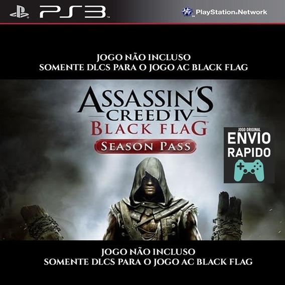 Dlcs Season Pass Black Flag - Ps3 - Não Inclui O Jogo