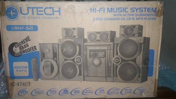 Equipo De Sonido Utech Con Sistema Subwoofer