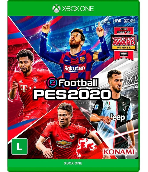 Pes 20 Pro Evolution Soccer Xbox One Mídia Física Português